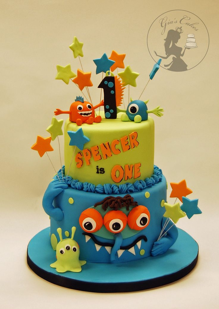 25 best ideas about Monster Birthday Cakes on Pinterest