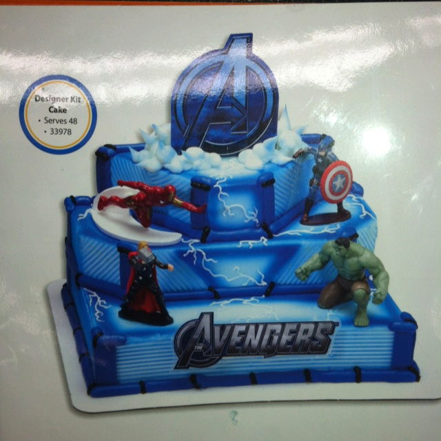 Avengers Cake From Walmart Superhero Birthday Party
