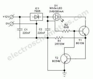 auto white led light circuit schematic | Schematics | Pinterest | Automobile, Car lights and Autos