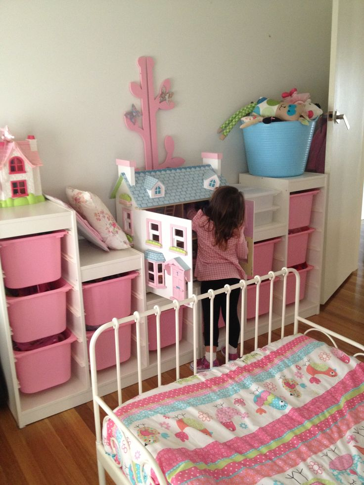 Ikea Trofast storage  girls rooms  Pinterest  My little