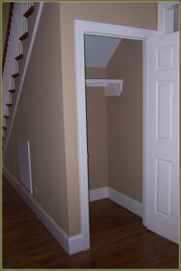 Under Stairs Coat Closet Organization