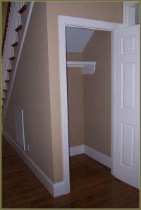 Under Stairs Coat Closet Organization