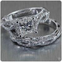 Verragio white gold, diamond encrusted, twisted shank band ...