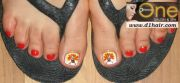 thanksgiving nail art ideas toe