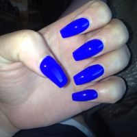 Royal blue coffin nails | Projects to Try | Pinterest ...