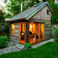 Lovely rustic shed complete with tin roof. | Backyard Shed ...