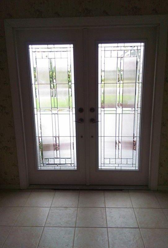 Thermatru Saratoga decorative door glass inserts  Door  Pinterest  Door glass inserts