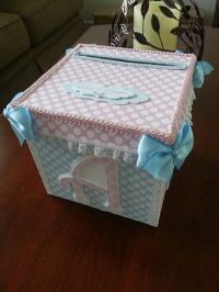Pink And Blue Gift Card Box / Baby Shower Card Box / Baby