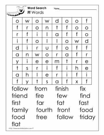 Letter f, Word search and Words on Pinterest