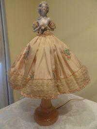 Antique German Karl Schneider style Half Doll Lamp ...