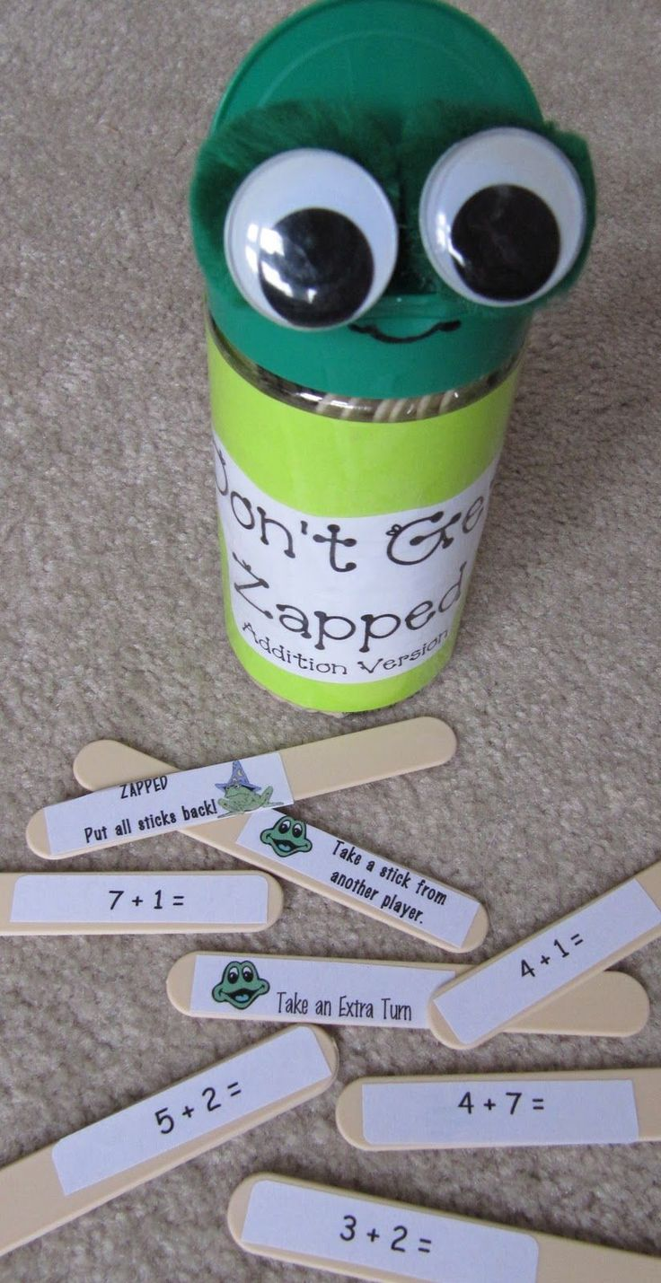 Mrs. Samuelsons Swamp Frogs: Dont Get Zapped!  For this game students take a stick from the monster and try and solve the problem.