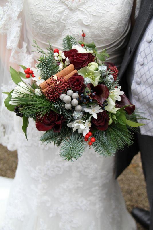 Beautiful Christmas wedding bouquet  Winter wedding