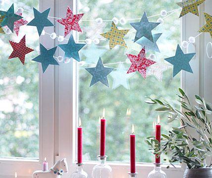 Girlande aus Sternen – Stimmungsvolle Weihnachtsdeko 10 – [LIVING AT HOME]
