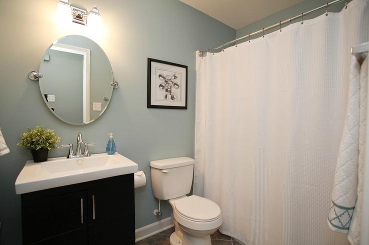 Split levelmain bathroom Paint is Sherwin Williams