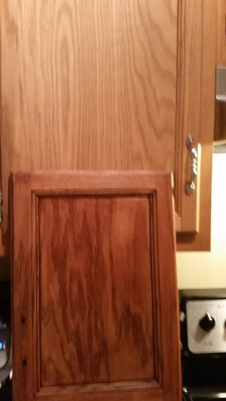 changing countertops in kitchen table with storage cabinets my to brown mahogany using ...