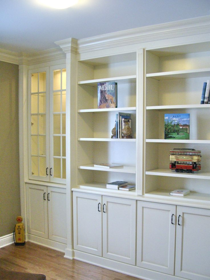 Built In Bookcases With Fluted Column Detail Amp Large Crown