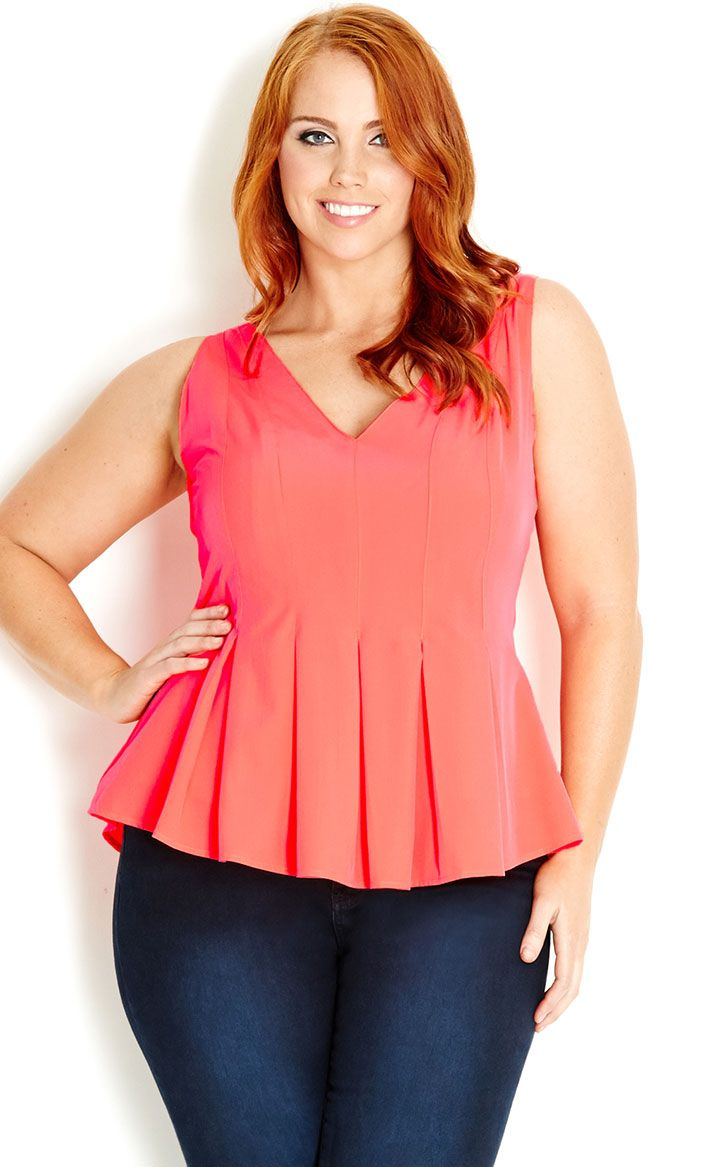 City Chic  STITCH PEPLUM TOP  Womens plus size fashion citychic citychiconline newarrivals