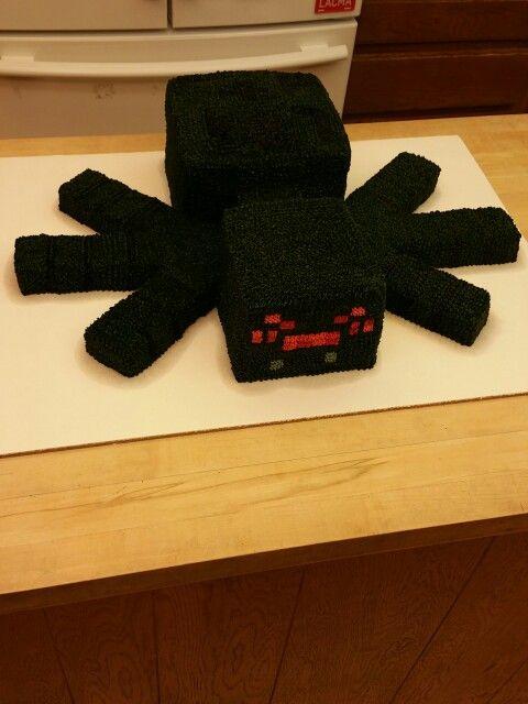 Minecraft spider cake  Minecraft party  Pinterest