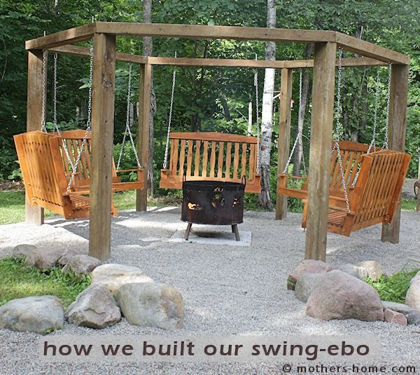Fire Pit Swing Gazebo Can You Believe My Husband And I