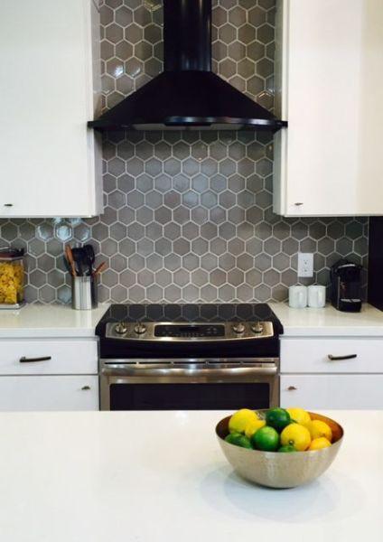 hexagon tile kitchen backsplash 17 Best images about Hexagon Tiles in the Kitchen on Pinterest | Pewter, Volkswagen and Hexagons