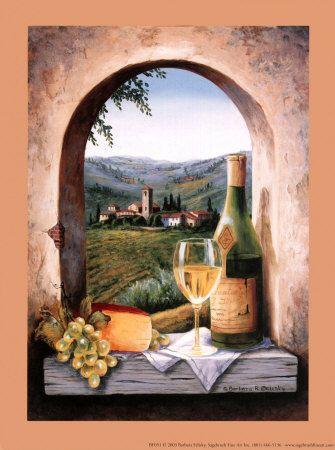 wallpaper kitchen backsplash narrow island with seating tuscany dreams art | tuscan style decor pinterest ...