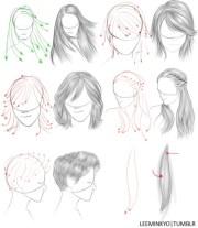 die besten 17 ideen zu haare zeichnen