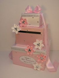 Wedding Card Box White and Light Pink Baby Shower Gift