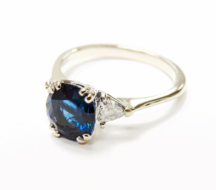 17 Best Ideas About Blue Sapphire Rings On Pinterest