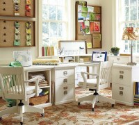 Contemporary Bright Light Natural Home Office Sewing Room ...