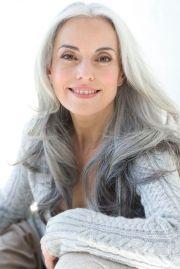 beautiful gray hair - yasmina rossi