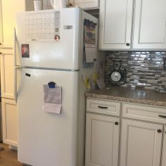 Black And White Tile Kitchen Backsplash South Jersey Remodeling Caspian Cabinets Off Kitchen. I Looked Everywhere ...