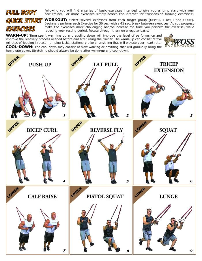 picture about Printable Trx Workouts referred to as √ 10 Excellent Shots of TRX Health and fitness Chart