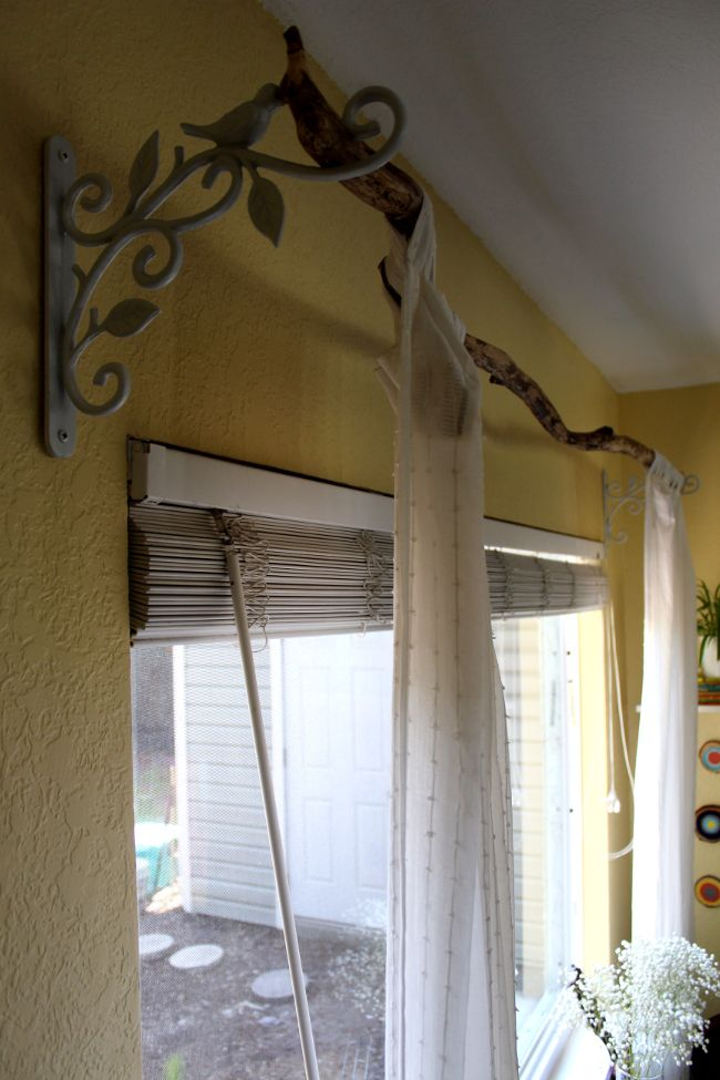 17 Best Ideas About Branch Curtain Rods On Pinterest Wooden Curtain Rods Patio Curtains And