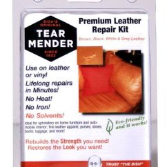How To Fix Tear Leather Sofa Replacement Metal Legs Uk Furniture Repair Kit Mender Patches Refinish ...