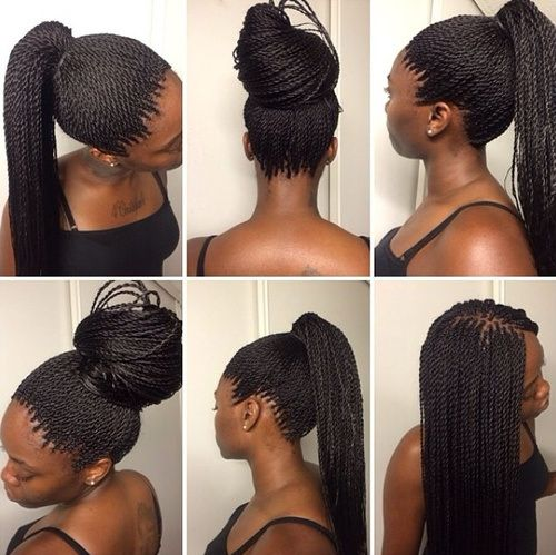 40 Chic Twist Hairstyles For Natural Hair Buns Ponies