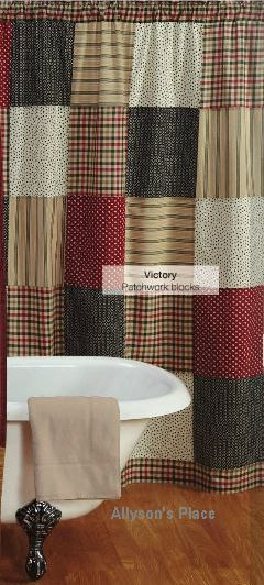 cotton kitchen rugs widespread faucet 10 best images about primitive shower curtains on ...