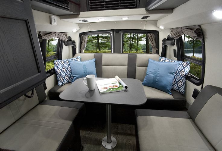 Rear Sitting Area In The Roadtrek Ranger RT With New Ebony