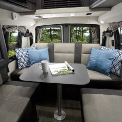 Tufted Button Sofa Down Stuffed Rear Sitting Area In The Roadtrek Ranger Rt With New Ebony ...