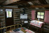 one room primitive cabin interiors
