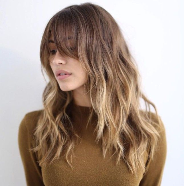 25 Best Ideas About Long Layered Bangs On Pinterest Long Layers