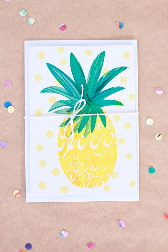 Pineapple Greeting Card Emily Nelson 496 Paper