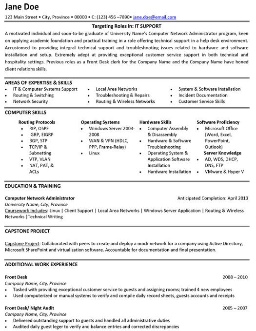 17 Best Images About Information Technology (it) Resume