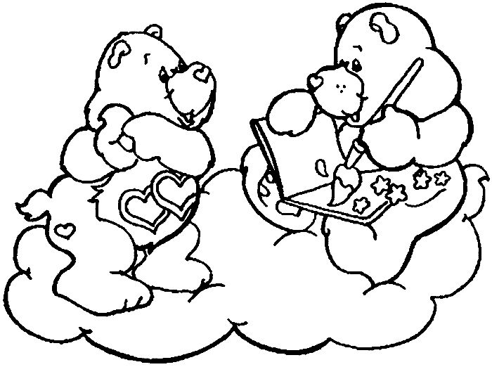 Love A Lot Bear Coloring Pages