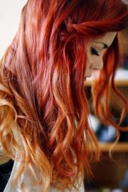 red hair with blonde tips. lua