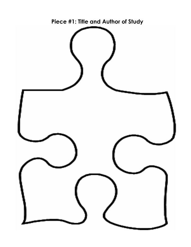 Puzzle pieces, Puzzle piece template and Templates on