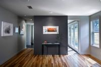 light gray room; charcoal accent wall | Movin' On Up ...