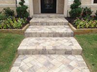 Paver steps up to front door | Outdoor landscape ...