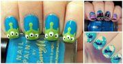 disney-themed nail design