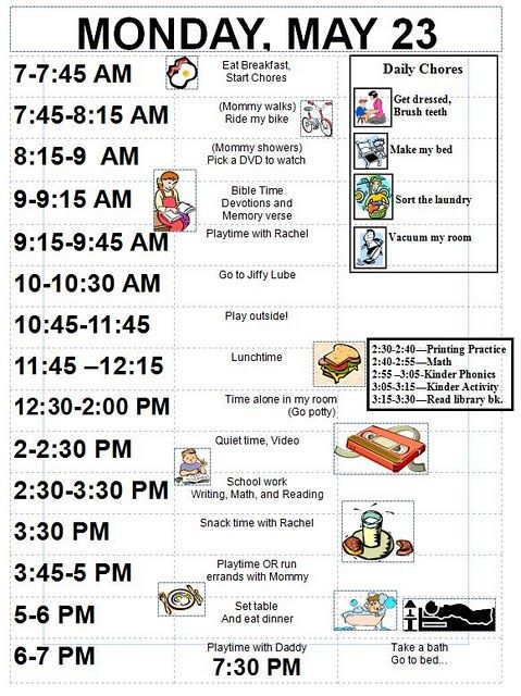 17 Best ideas about Toddler Daily Schedules on Pinterest