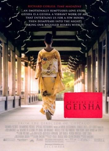 """""""Memoirs of a Geisha"""" poster:"""
